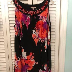 Plus A-Line dress, NWT
